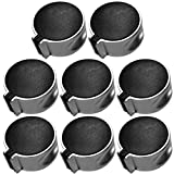 Gas Manopola - WENTS 8PCS Metallo 8mm Universale Nero Gas Stufa Controllo Manopole Adattatori Forno Interruttore Cucina Superficie Fornello Gas Controllo Serrature