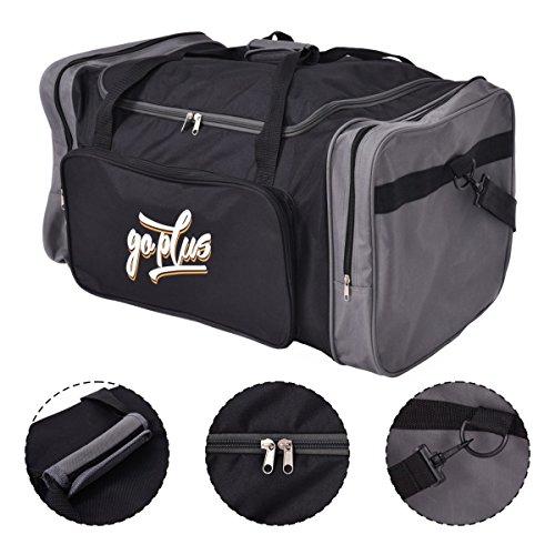 Goplus Sporttasche Trainingstasche Reisetasche Fitnesstasche Sportbag Duffle S/M/L (L)