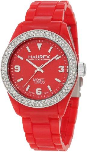Haurex Italy PR360DR1 - Reloj analógico de cuarzo para mujer con correa de plástico, color rojo