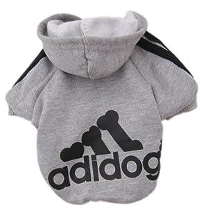 Zehui süsse Haustier Hund Katze Pullover Hündchen T-Shirt Warme Pullover Mantel Kleidung Apparel Grau S