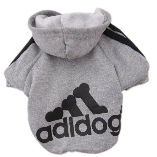 Zehui süsse Haustier Hund Katze Pullover Hündchen T-Shirt Warme Pullover Mantel Kleidung Apparel Grau M (Hund Bekleidung Grau)