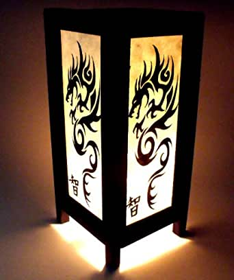 lampe japonaise papier dragon lampe orientale deco. Black Bedroom Furniture Sets. Home Design Ideas