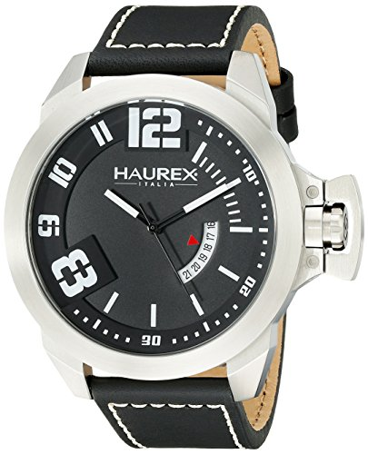 Haurex Italy Men's 6A509UNN Storm Analog Display Quartz Black Watch
