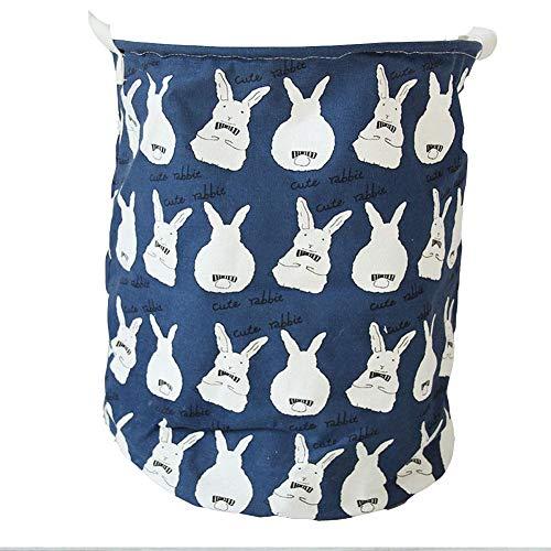 iBaste_top Seau de Stockage Seau de Rangement de Linge de Coton d'animal de Bande Dessinée de Panier de Blanchisserie Portatif Portable