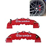 #1: 2pcs AutoTrends Brembo High Performance Brake Decoration Caliper Cover Small Size(Red)