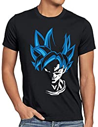 style3 Super Goku Blue God Modus Herren T-Shirt