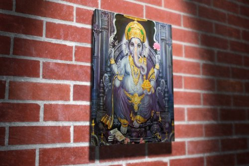 Ganesha Hinduism Religion Gallery Framed Canvas Art Picture Print