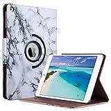 ULAK Coque iPad Air, Housse Étui Smart Cover en PU Cuir Rotatif 360°avec Veille Automatique et Fonction Supporter pour Apple iPad Air (Gris Marbre)