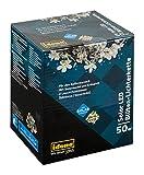 Idena LED Solarlichterkette, 50 LED mit Blütenmotiv, warmweiß, 30131