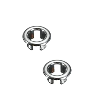 2 Bathroom Basin Sink Spare Round Overflow Cover Tidy Trim Chrome Replacement