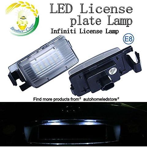 2x Infiniti Nissan LED targa lampada per Livina Pulsar Sedan Coupe Tiida Versa Cars - 2009 Infiniti G35 Coupe