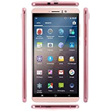 SORAKA Smartphone libre 6.0 pulgadas GSM 3G Android 5.1 Quad Core Dual SIM 5.0 MP(Rosa)