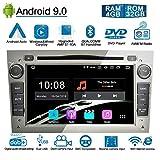 Ohok Android 9.0 Autoradio 2 Din pour OPEL Vauxhall Astra Antara Vectra 8 Core Stéréo Unité de tête 4G+32G Sat Nav lecteur de DVD Supporte GPS Bluetooth CarPlay Android Auto OBD2 7' écran tactile,Gris
