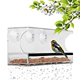 BAVISION Window Bird Feeder with 3 Super Strong Suction Cups Removable Seed Tray