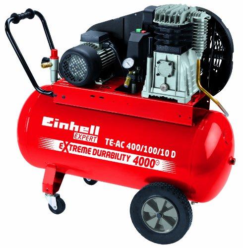 Preisvergleich Produktbild Einhell Kompressor TE-AC 400/100/10 D, 2,2 kW, 100 Liter, Ansaugleistung 400 l/min., 10 bar, 2 Zylinder