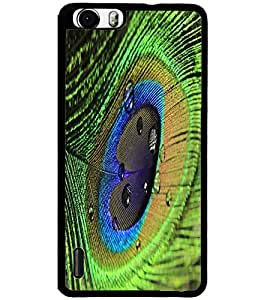 ColourCraft Peacock Feather Design Back Case Cover for HUAWEI HONOR 6