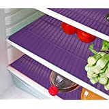 E-Retailer Plastic Fridge Mat Refrigerator Drawer Mat/Fridge Mat/Place Mat Set Of 3 Pcs (13 * 19 Inches) Multi Purpose Use (Purple, Free)