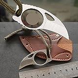 BLF mini karambit feststehende klinge messer mit leder scheide klinge aus rostfreiem stahl länge 2.5cm white