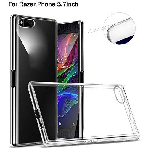 Razer Phone case, [Fusion] trasparente posteriore del gel di assorbimento degli urti [protezione goccia/tecnologia] per Razer Phone case