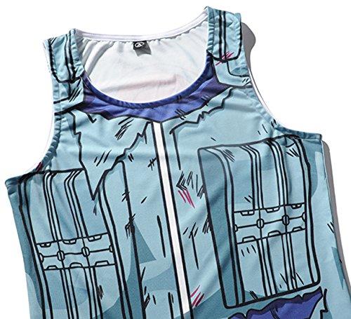 Pizoff Herren Gym Sport Fitness Stringer Trainingsshirt Muskelshirt Tank Top mit Karikatur Druckmuster Y1783-13