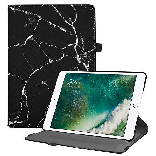 Fintie Custodia Compatibile con Apple Nuovo iPad 9.7 Pollici 2018 2017 / iPad Air 2 / iPad Air Cover - Multi-angli Stand Case Cover Protettiva con Auto Sveglia/Sonno Funzione, Marble Nero