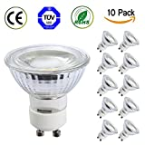 TSCDY Waterproof GU10 LED Dimmable 5W 450LM 3000K 10 Pack
