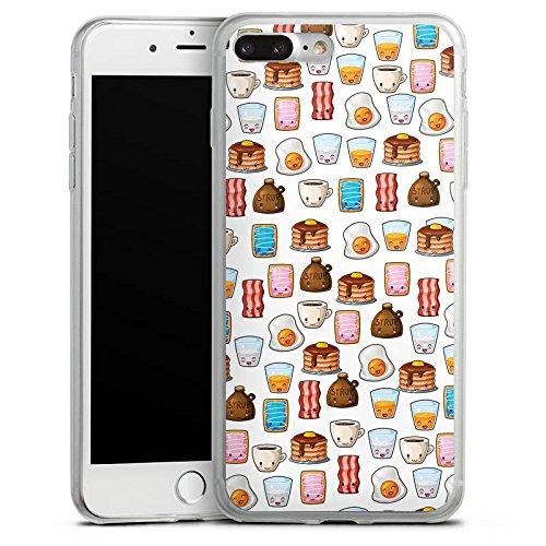 Apple iPhone 8 Plus Slim Case Silikon Hülle Schutzhülle Cute Breakfast Frühstück Kawaii Manga Style Silikon Slim Case transparent