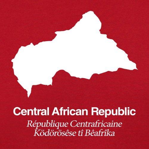 Central African Republic / Zentralafrikanische Republik Silhouette - Damen T-Shirt - 14 Farben Rot