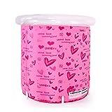 Ren Chang Jia Shi Pin Firm Aufblasbare Badewannen-Falt-Badewanne Tragbare Badewanne Kunststoff-Badewanne Whirlpool Whirlpool-Familie Badewanne (Color : Pink, Size : 80*80cm)