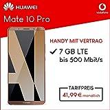 Huawei Mate 10 Pro (Mocha Brown ) 128GB Speicher Handy mit Vertrag (Vodafone Smart L Plus) 7GB Datenvolumen 24 Monate Mindestlaufzeit