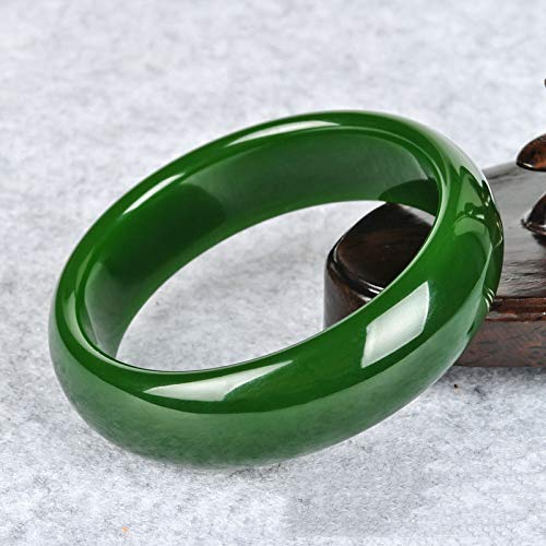 Wenwen Damen Jade Armband, Jaspis Spinat grüne Jade Armband, Damen Boutique Jade - Einzigartige Mutter Tochter Kostüm