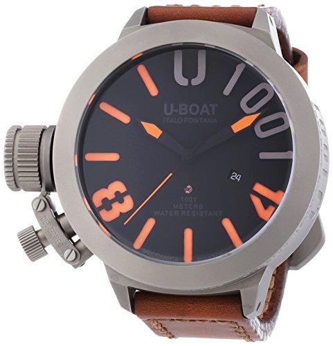 U-Boat  5868 - Reloj de automático para hombre, con correa de cuero, color negro