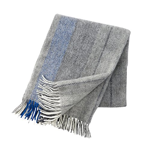 Klippan Gute Wolldecke 130x200 cm - grau, blau