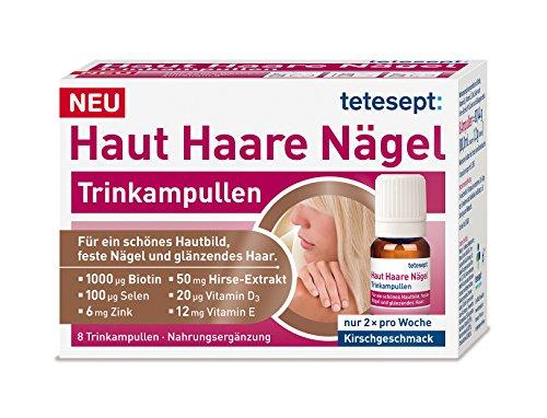 Tetesept Haut Haare Nägel Trinkampullen, 1er Pack (1 x 8 Stück)