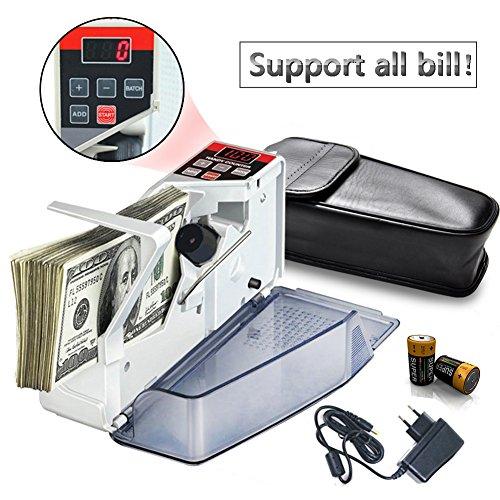 Tragbare Mini-Geldzähler für die meisten Geldnoten Bill Geldzählmaschine EU-V40 Finanz Ausrüstung Großhandel