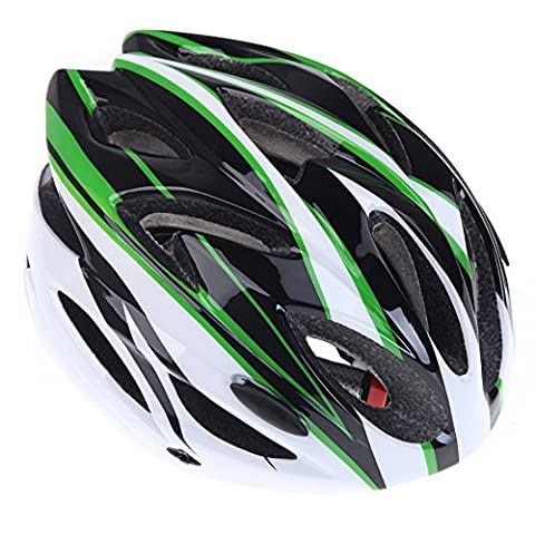 Bike helmet - TOOGOO(R)Cycling bike helmet sports Ultralight severally mold with adult visor (white + black +