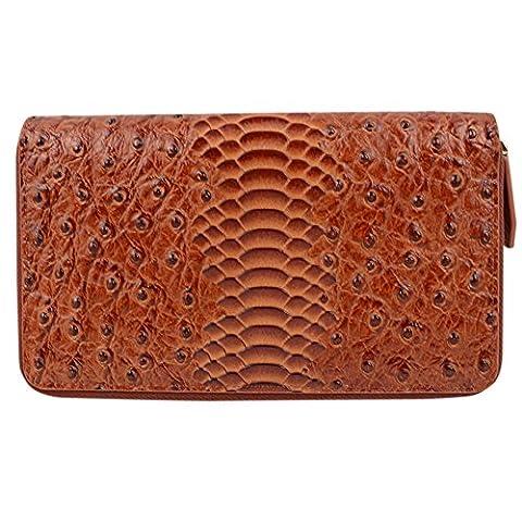 DJ-16004 parfait portefeuille brown avec fermeture de faon minimaliste et d
