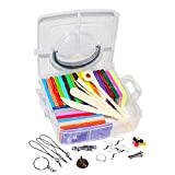 Polymer Clay - 60 Pc Oven Bake Clay Modelling Kit – 26 Colour Clays, 5 Sculpture Tools and Other Accessories for Kids DIY Craft with Baking Tutorials and Instruction Booklet – Children Gift Set