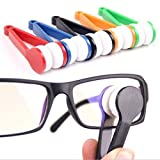 Krismile® Hot Sale New 5ps Small Microfibre Glasses Eyeglasses Cleaning Clip Brush Spectacles Sun Easy Sunglasses Cleaner,Mini Sun Glasses Eyeglass Microfiber Brush Cleaner Home Office Easy Travel Pocket friendly size by Krismile
