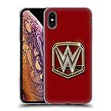 Head Case Designs Officiel WWE Universal Champion Ceintures de Titre Étui Coque en Gel Molle pour iPhone XS Max