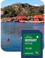 Satmap mapcard: Norwegen Adventure Karte (1: 25K)