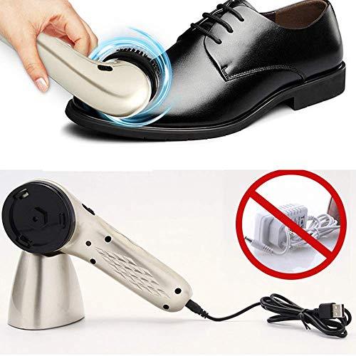 JTKDL Eléctrica betún Zapatos Kit Cepillo Zapatos
