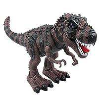 Yier elettronici a piedi dinosauro Walking in presenza di rumori di dinosauro impressionante! Divertimento per tutte le età, che richiede 3 batterie AA (non incluse), i bambini sarà entusiasta di ricevere questo come un regalo per ogni occasi...