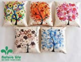 #5: Kridhya Natura Life Decorative Hand Made Cotton Cushion Covers (Multicolour, 16x16 Inches, 40x40cm) - Set of 5