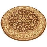 Runder Orientteppich Ziegler 304 cm Ø Braun - feine Qualität - moderner Teppich - oriental round carpet best quality