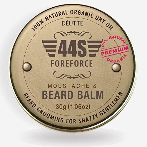 44S Bart Wachstum Bart Balm für Männer, 100% Natürlichem Bio Klimaanlage Bart Öl (Verbannen Öl)