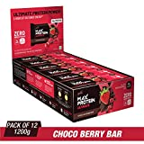 RiteBite Max Protein Ultimate Choco Berry Bars 1200g Pack of 12 (100g x 12)