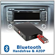 Coche manos libres Bluetooth A2DP adaptador de cambiador de CD vw volkswagen jetta T5EOS de conejo Fox 12pin RCD 200210300310500MFD2