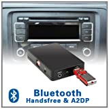 Adaptateur Bluetooth A2DP mains libres pour chargeur CD - Volkswagen VW 12 broches RCD 200 210 300 310 500 MFD2