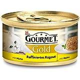 Gourmet Gold Katzenfutter Raffiniertes Ragout Huhn, 12er Pack (12 x 85 g) Dosen
